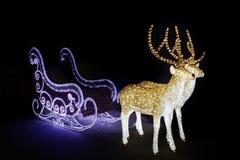Kerstmisar met deers royalty-vrije stock foto's