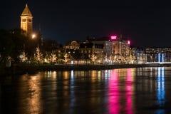 Kerstmisatmosfeer in Zweden Stock Fotografie