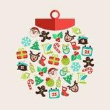 Kerstmisbal Stock Foto
