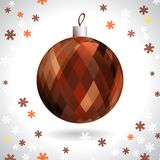 Kerstmisbal Royalty-vrije Stock Foto's