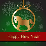 Kerstmisbal met paard Royalty-vrije Stock Foto