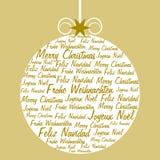Kerstmisbal met tekst wordt en wordt gevuld gevormd die Stock Fotografie