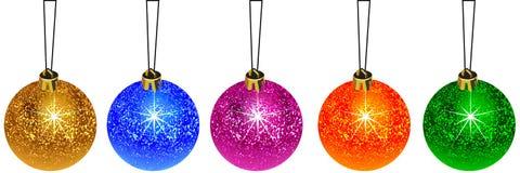 Kerstmisbal van de decoratie Stock Foto's