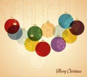 Kerstmisballen Stock Afbeelding