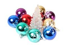 Kerstmisballen acht Stock Foto
