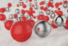 Kerstmisballen als uitstekende stijl Stock Foto's