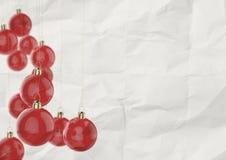 Kerstmisballen als uitstekende stijl Royalty-vrije Stock Afbeeldingen