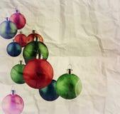 Kerstmisballen als uitstekende stijl Stock Afbeeldingen