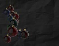 Kerstmisballen als uitstekende stijl Royalty-vrije Stock Afbeelding