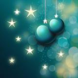 Kerstmisballen in blauw Royalty-vrije Stock Foto's
