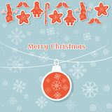 Kerstmisballen en de uitstekende retro achtergrond van de Kerstmisdecoratie Royalty-vrije Stock Fotografie