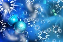 Kerstmisballen en sneeuw royalty-vrije illustratie
