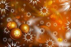 Kerstmisballen en sneeuw vector illustratie