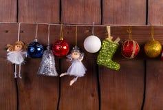 Kerstmisballen en speelgoed Royalty-vrije Stock Foto