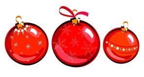 Kerstmisballen, het trekken Royalty-vrije Illustratie