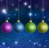 Kerstmisballen met exemplaarruimte Royalty-vrije Stock Foto