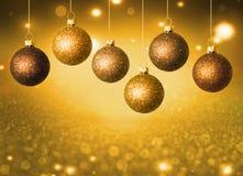 Kerstmisballen met exemplaarruimte Stock Foto's