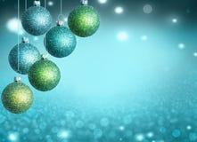 Kerstmisballen met exemplaarruimte Royalty-vrije Stock Afbeeldingen