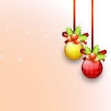 Kerstmisballen met Maretak voor Kerstmisviering Royalty-vrije Stock Afbeelding