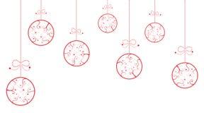 Kerstmisballen met wervelingen Stock Afbeelding