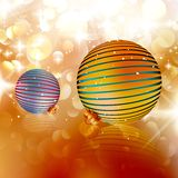 Kerstmisballen op abstracte achtergrond. Stock Afbeeldingen