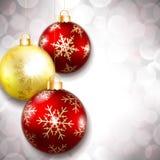 Kerstmisballen op een mooie achtergrond Stock Foto