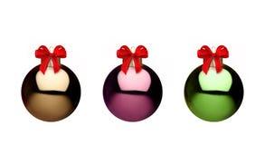 Kerstmisballen van het metaal Royalty-vrije Stock Fotografie