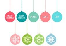 Kerstmisballen, vectorreeks Royalty-vrije Stock Foto's