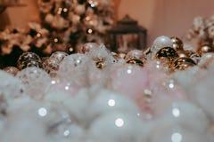 Kerstmisballen voor boomdecoratie Royalty-vrije Stock Foto's
