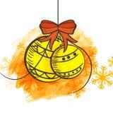 Kerstmisballen voor Vrolijke Kerstmisviering Stock Fotografie