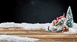 Kerstmisbanner met decoratief stilleven royalty-vrije stock foto's