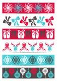 Kerstmisbanners Stock Foto's