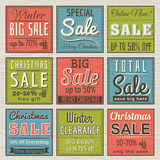 Kerstmisbanners met verkoopaanbieding Stock Foto