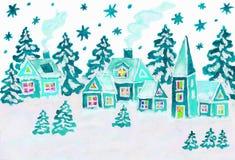 Kerstmisbeeld in blauwe kleuren vector illustratie