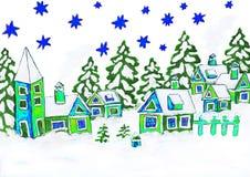 Kerstmisbeeld, het schilderen Stock Foto