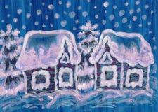 Kerstmisbeeld onblue royalty-vrije illustratie