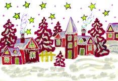 Kerstmisbeeld in rood vector illustratie