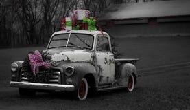 Kerstmisbestelwagen stock foto