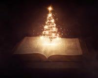 Kerstmisbijbel royalty-vrije stock foto's
