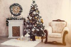 Kerstmisbinnenland Stock Foto's
