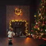 Kerstmisbinnenland Stock Foto