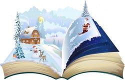 Kerstmisboek royalty-vrije stock afbeeldingen