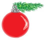 Kerstmisbol Royalty-vrije Stock Foto