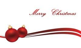 Kerstmisbol op grijze achtergrond met sneeuw Royalty-vrije Stock Fotografie