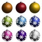 Kerstmisbollen Royalty-vrije Stock Foto's