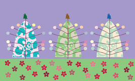 Kerstmisbomen van Stilized Royalty-vrije Stock Foto's