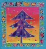 Kerstmisboom van de batik Stock Afbeelding