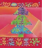 Kerstmisboom van de batik Stock Foto