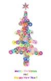 De boom van bellenkerstmis Stock Foto's