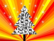 Kerstmisboom van de disco Stock Foto's